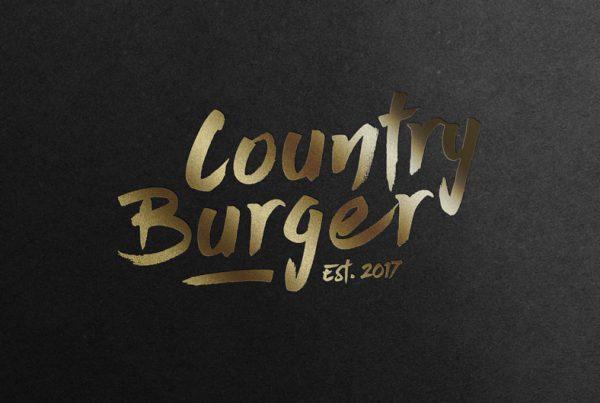 Country burger logotyp