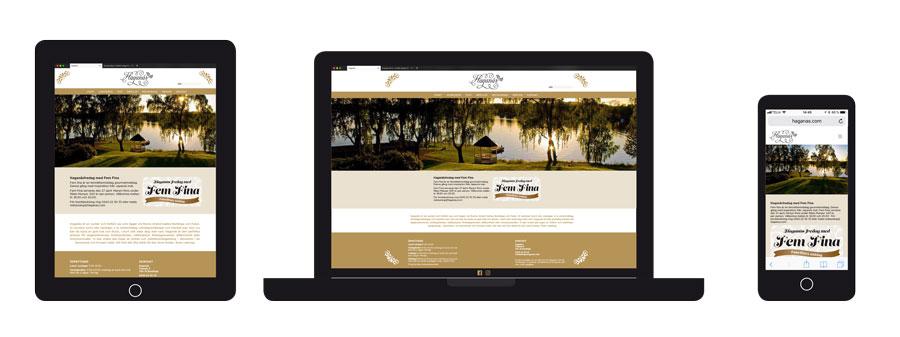 Responsiv hemsida till Haganäs
